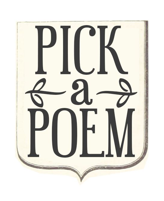 pick a poem sign